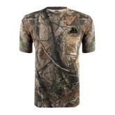 Realtree Camo T Shirt w/Pocket-Potsdam Bears - Official Logo Tone