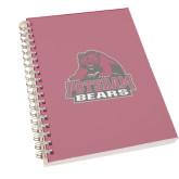 Clear 7 x 10 Spiral Journal Notebook-Potsdam Bears - Official Logo