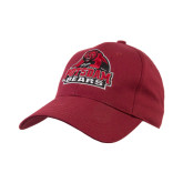 Maroon Heavyweight Twill Pro Style Hat-Potsdam Bears - Official Logo