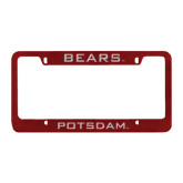 Metal Maroon License Plate Frame-Mascot