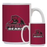 Full Color White Mug 15oz-Potsdam Bears - Official Logo