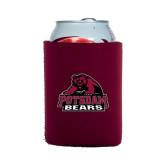 Neoprene Maroon Can Holder-Potsdam Bears - Official Logo