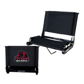 Stadium Chair Black-Potsdam Bears - Official Logo