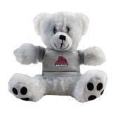 Plush Big Paw 8 1/2 inch White Bear w/Grey Shirt-Potsdam Bears - Official Logo