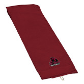 Maroon Golf Towel-Potsdam Bears - Official Logo