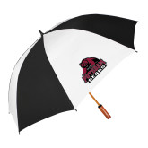 62 Inch Black/White Umbrella-Potsdam Bears - Official Logo