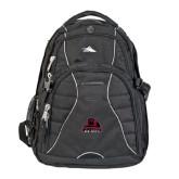 High Sierra Swerve Black Compu Backpack-Potsdam Bears - Official Logo