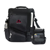 Momentum Black Computer Messenger Bag-Potsdam Bears - Official Logo