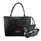 Sophia Checkpoint Friendly Black Compu Tote-Potsdam Bears - Official Logo