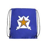Nylon Royal Drawstring Backpack-Star