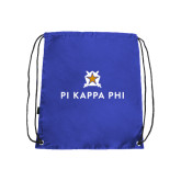 Nylon Royal Drawstring Backpack-Pi Kappa Phi Stacked