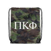 Camo Drawstring Backpack-Greek Letters