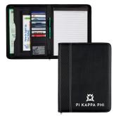 Carbon Fiber Tech Padfolio-Pi Kappa Phi Stacked