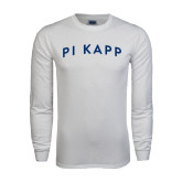 White Long Sleeve T Shirt-Arched Pi Kapp