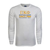 White Long Sleeve T Shirt-Founders stacked