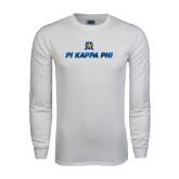 White Long Sleeve T Shirt-Geometric