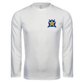 Performance White Longsleeve Shirt-Star