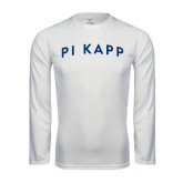 Syntrel Performance White Longsleeve Shirt-Arched Pi Kapp