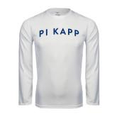 Performance White Longsleeve Shirt-Arched Pi Kapp