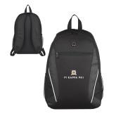 Atlas Black Computer Backpack-Pi Kappa Phi Stacked