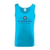 Light Blue Tank Top-Pi Kappa Phi - Exceptional Leaders.Uncommon Opportunities.