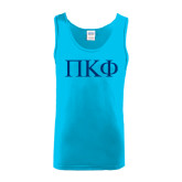 Light Blue Tank Top-Greek Letters