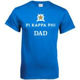 Royal T Shirt-Dad - Pi Kappa Phi Stacked