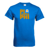 Royal Blue T Shirt-Big Pi Stacked