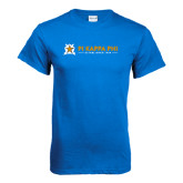 Royal Blue T Shirt-Established Date with Line