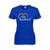 Ladies Royal T Shirt-Script Sweetheart w/ Heart