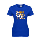 Ladies Royal T Shirt-Love Stacked