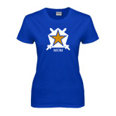 Ladies Royal T Shirt-Mom - White Badge