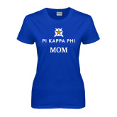 Ladies Royal T Shirt-Mom - Pi Kappa Phi Stacked