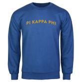 Royal Fleece Crew-Arched Pi Kappa Phi
