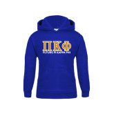 Youth Royal Fleece Hoodie-Future Pi Kappa Phi w/ Greek Letters