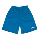 Performance Royal 9 Inch Length Shorts-Greek Letters