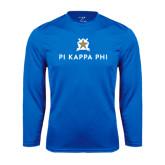Performance Royal Longsleeve Shirt-Pi Kappa Phi Stacked