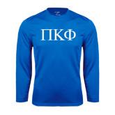 Performance Royal Longsleeve Shirt-Greek Letters