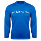 Performance Royal Longsleeve Shirt-Arched Pi Kappa Phi