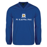 V Neck Royal Raglan Windshirt-Pi Kappa Phi Stacked