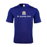 Performance Royal Heather Contender Tee-Pi Kappa Phi Stacked