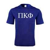 Performance Royal Heather Contender Tee-Greek Letters