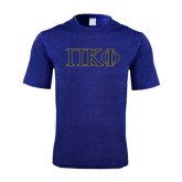 Performance Royal Heather Contender Tee-Greek Letters - 2 Color