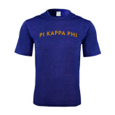 Performance Royal Heather Contender Tee-Arched Pi Kappa Phi