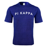 Performance Royal Heather Contender Tee-Arched Pi Kapp