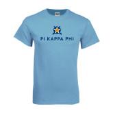 Light Blue T-Shirt-Pi Kappa Phi Stacked