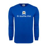 Royal Long Sleeve T Shirt-Pi Kappa Phi Stacked