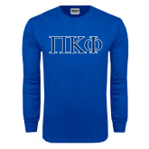 Royal Long Sleeve T Shirt-Greek Letters - 2 Color