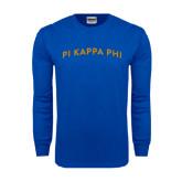 Royal Long Sleeve T Shirt-Arched Pi Kappa Phi