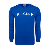 Royal Long Sleeve T Shirt-Arched Pi Kapp